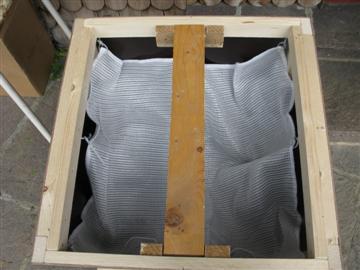 Dampfwachsschmelze Presstuch montiert